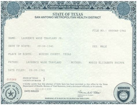 full birth certificate definition exles of best certificate texas birth certificate