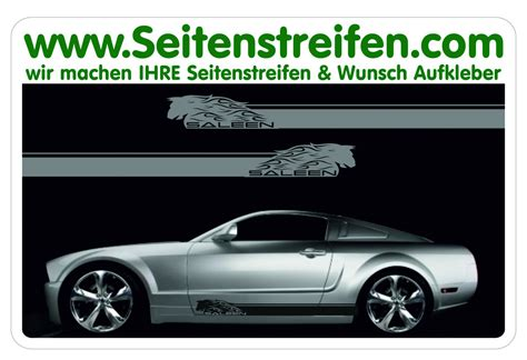 Decal Striping Sticker Klx 041 Glossy ford mustang saleen side stripes sticker decal complete