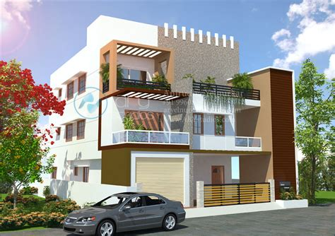 Floor Plan Drawing Apps by 3d Bungalow Rendering Architectural Day View Realistic Kerala Ary Studios