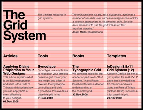 typography grid system istd typography