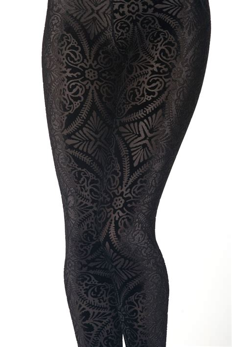 Legging Import Velvet burned velvet velvet black milk and