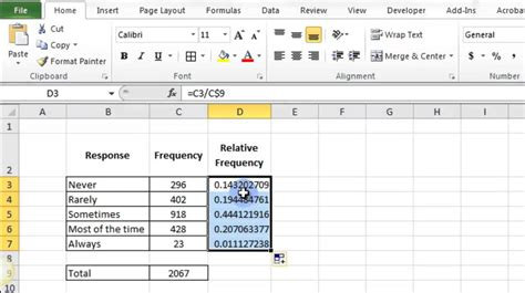2 4 construct ogive with excel youtube relative frequency in excel 2010 youtube
