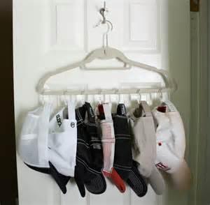 hat hanger ideas the orderly home baseball cap organization