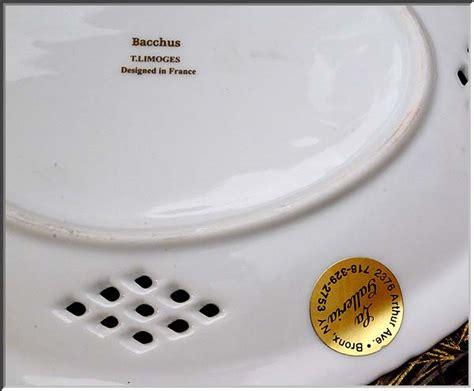 A Fabulous New Label by Fabulous T Limoges Bacchus Porcelain Collector Platter