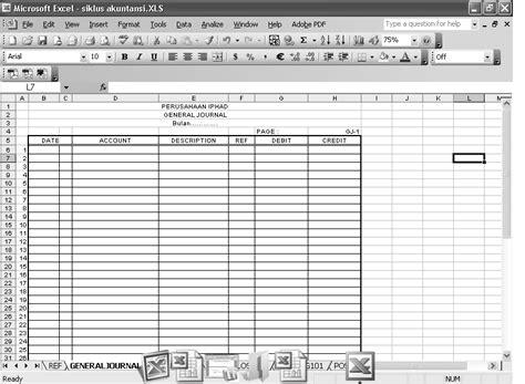 membuat general journal cara membuat laporan keuangan di microsoft excel rock n