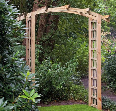 Timber Garden Arch Kits Curved Garden Arch 180cm Wide