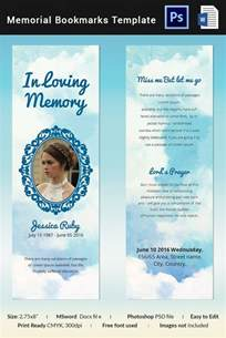 free memorial template 5 memorial bookmark templates free word pdf psd