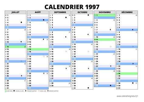 Calendrier De 1997 Calendrier 1997