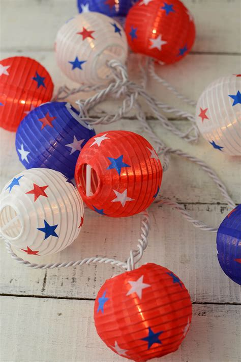 blue paper lantern string lights patriotic red white blue paper lantern string lights 6 ft