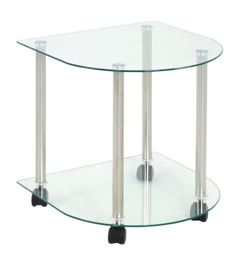 Glass And Chrome Side Table Meppen Glass Chrome Side Table 33719