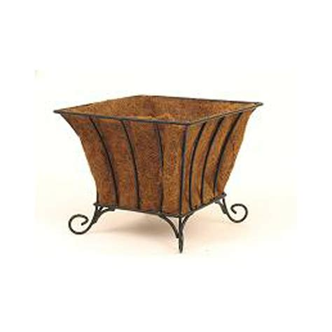 Coco Liners For Planters by 15 Quot Cottage Square Patio Planter W Aquasav Coco Liner