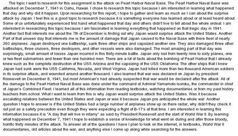 Pearl Harbor Essay by The Pearl Harbor Attacks At Essaypedia