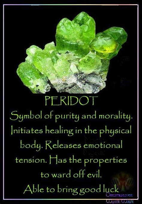 define ward off peridots the property and symbols on pinterest