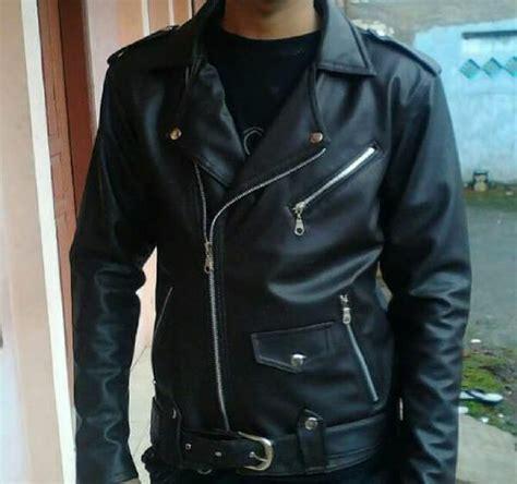 Jaket Pria Semi Kulit Ramones G87 jual jaket ramones jaket kulit sintetis