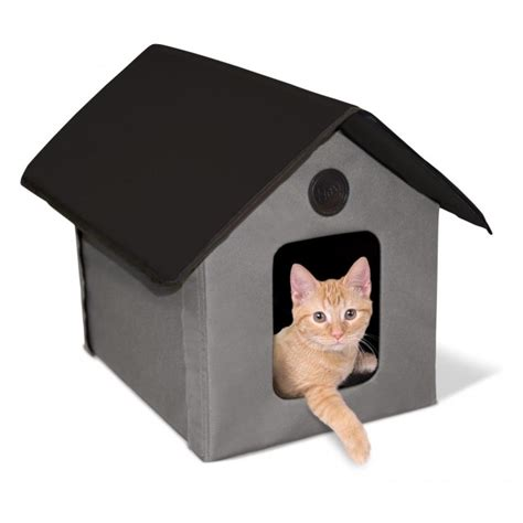 Cat Acrylic Waterproof k h outdoor house heated cat house shelter bed