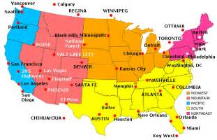 map of united states with cities maps of united states of america