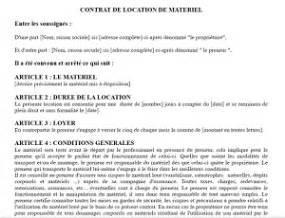 Exemple De Lettre De Demande De Matériel Informatique Mod 232 Le D Un Contrat De Location De Mat 233 Riel