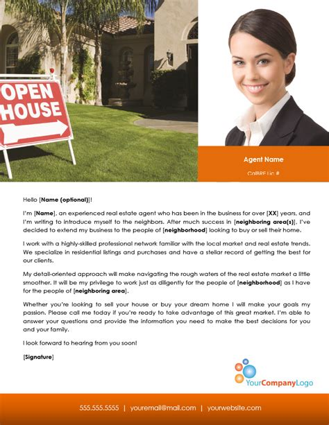 Real Estate Introduction Letter Template Images   Template Design Ideas