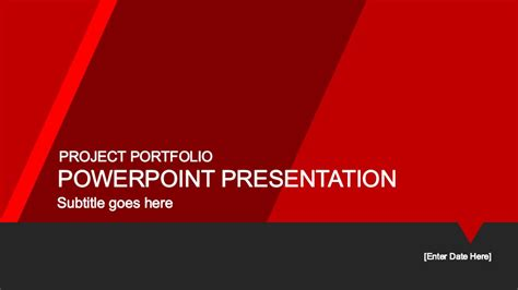 powerpoint templates free red red portfolio powerpoint template slidemodel