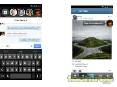facebook messenger for android updated, features chat head