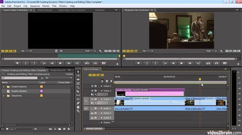 Creating And Editing Titles Premiere Pro Cs6 Youtube Adobe Premiere Pro Cs6 Templates