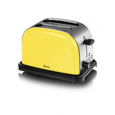 Yellow Toasters Sale Swan St14010yeln 2 Slice Mellow Yellow Toaster
