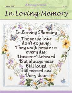memory cross template stoney creek in loving memory cross stitch pattern