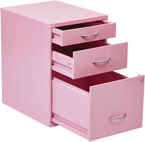 Pink Filing Cabinet Osp Designs 3 Drawer Storage Cabinet With Locking Filing Drawer Pink Hpbf261 By Office