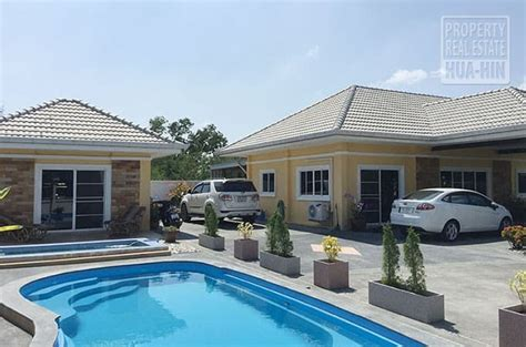 house for sale with pool big pool house for sale hua hin thailand prhh8290
