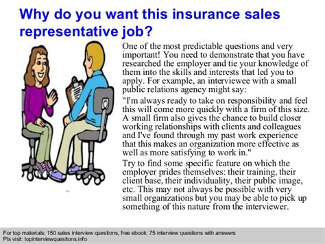 insurance sales representative questions and answers