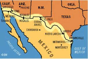 map us states bordering mexico us mexico border map search house of the