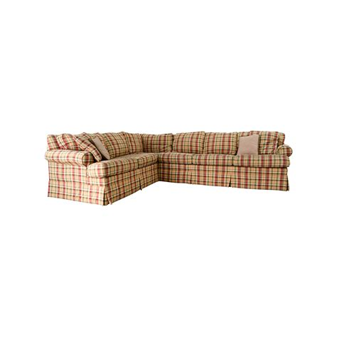 ethan allen sofas on sale 90 off ethan allen ethan allen retreat roll arm plaid