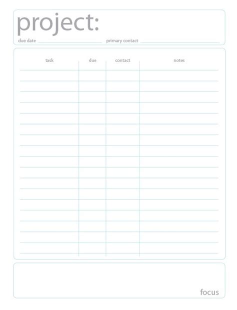 printable project planner free ask jacqueline free project planning printable
