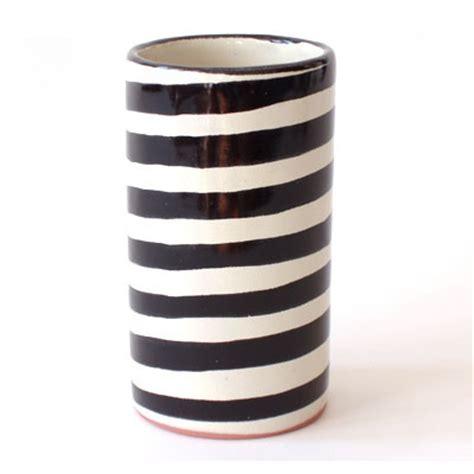 Black And White Striped Vases by Zebra Vase Black White Vase Black And