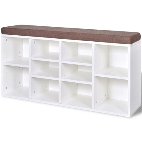 shoe storage bench white shoe storage bench 10 compartments white www vidaxl au