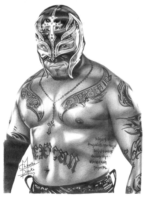 wwe rey mysterio pencil drawing by chirantha on deviantart