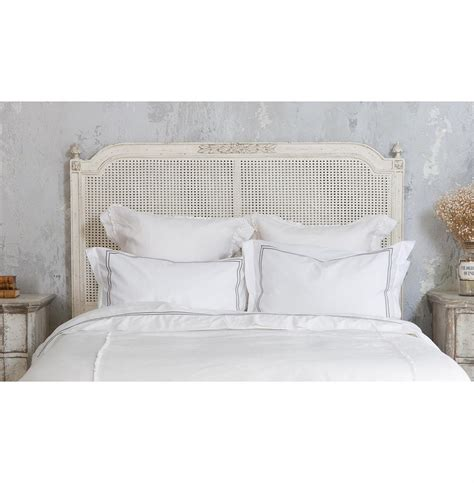elegant headboard blanka french country antique white elegant caned queen
