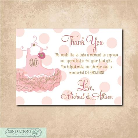 Baby Shower Thank You Notes Wording by Thank You Note To Match Baby Shower Invitation Digital