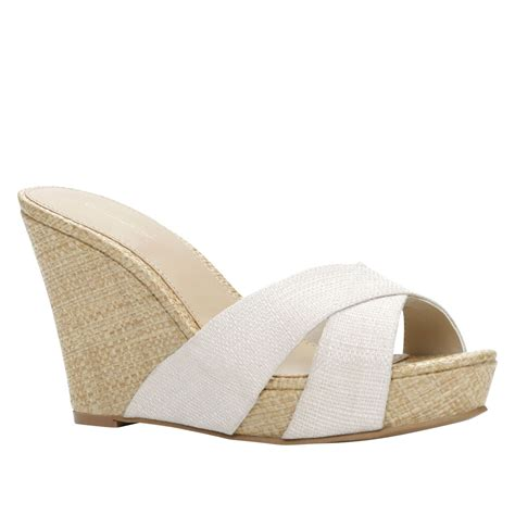 aldo santeramo wedge espadrille sandals in white