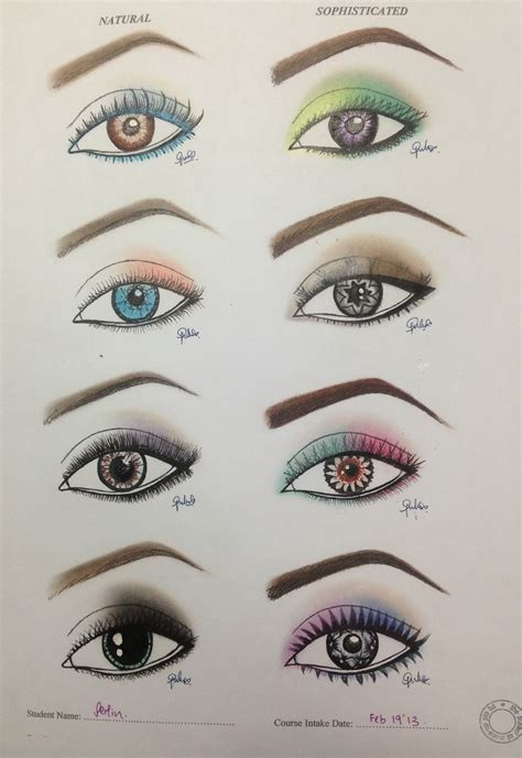 Makeup Is My Art Paper Works Face Charts Eye Templates Eye Makeup Template