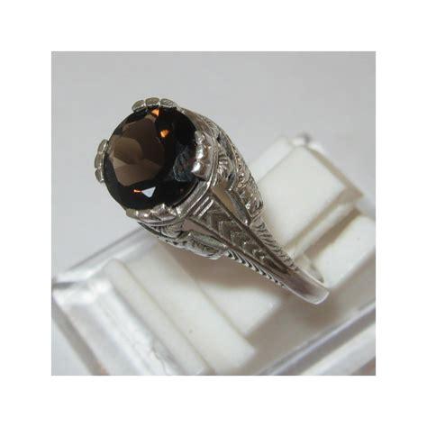 Liontin Smoky Topas Perak 925 cincin silver 925 model ukir inggris kuno style