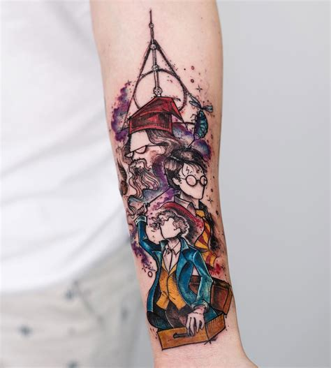 harry potter tattoo on girls forearm best tattoo design