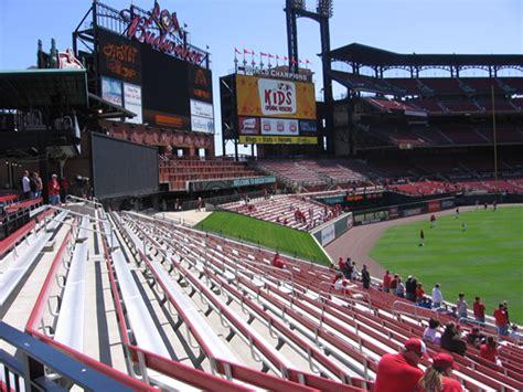 bleacher section busch stadium