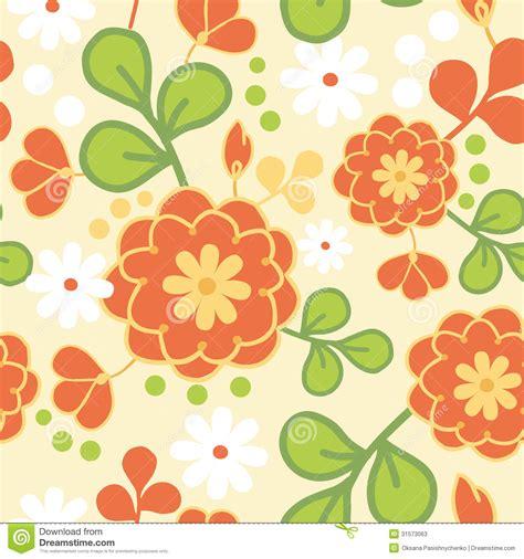 kimono repeat pattern orange kimono flowers seamless pattern background stock