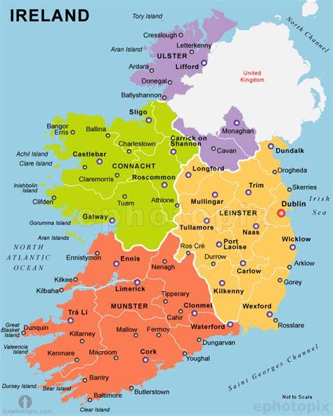 map ireland irland karte tierwelt