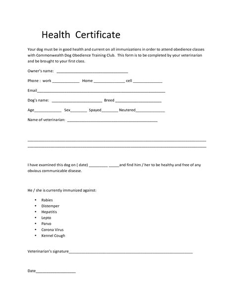 puppy health health certificate form related keywords health certificate form