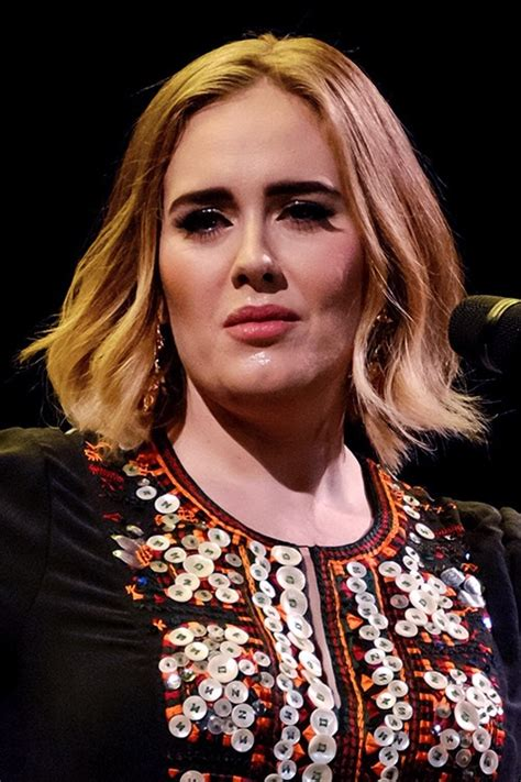 Adele Hairstyles by Adele Wavy Light Brown Blunt Cut Bob Hairstyle