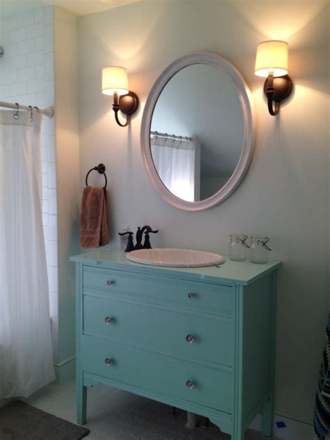 furniture turned into bathroom vanity reclaimed dresser turned into vanity dresser into