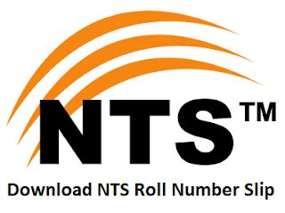 how to download nts roll number slip | how can done