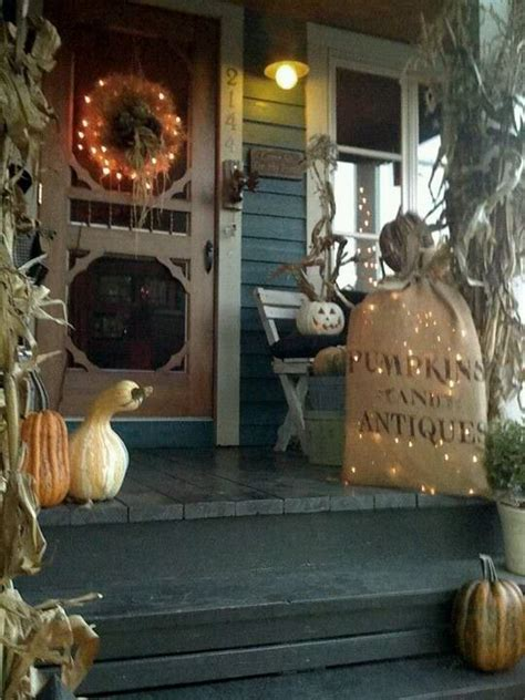 Front Porch Privacy Ideas by Country Halloween Front Door